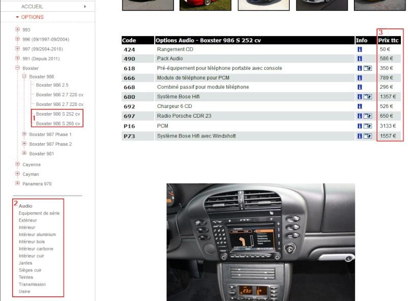 Liste + prix des options 986 Codes_10