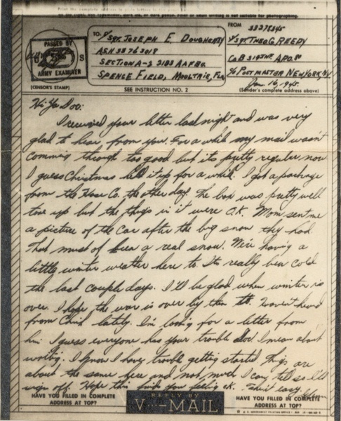 Vos lettres US ww2 V-mail10
