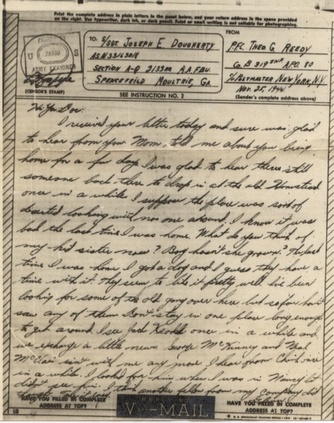 Vos lettres US ww2 V-mail11