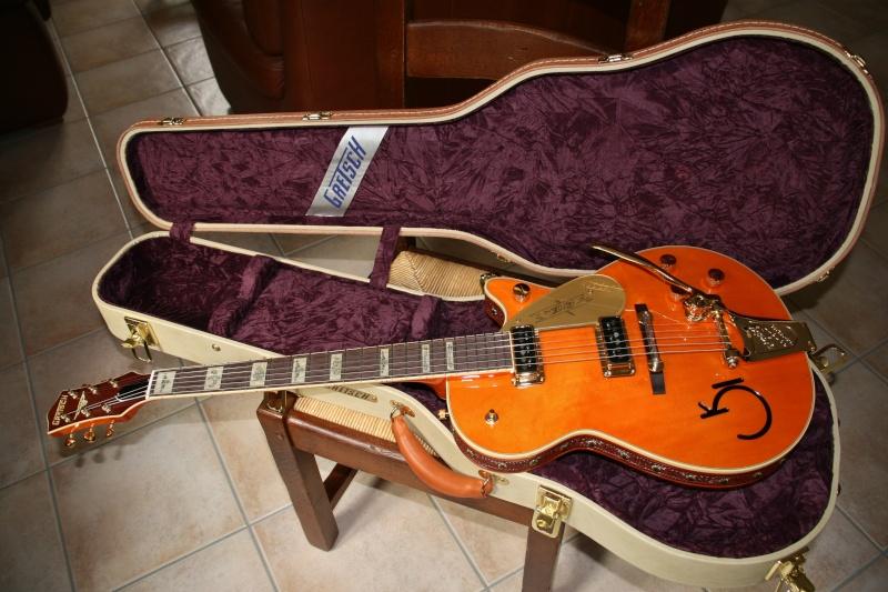 Gretsch CS 6121-55 Electric guitar brown/white Cowhide G6121-14