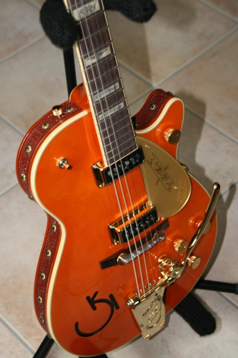 Gretsch CS 6121-55 Electric guitar brown/white Cowhide G6121-15
