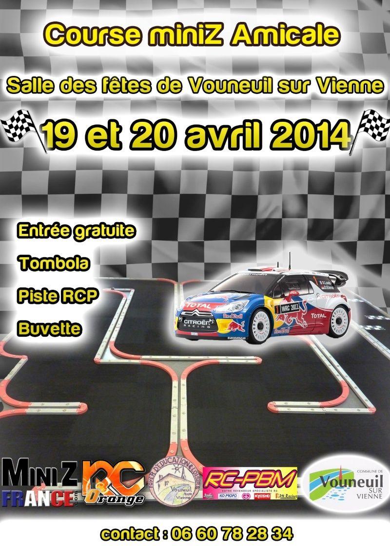 (86) Course Amicale à Vouneuil sur Vienne, les 19 & 20 Avril 2014 ! Affich11