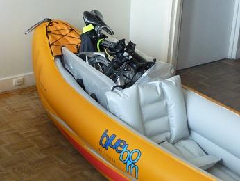 Balades collectives en vélo-kayak : préparatifs du matériel et questions logistiques  [projet de Pouille] P1020932