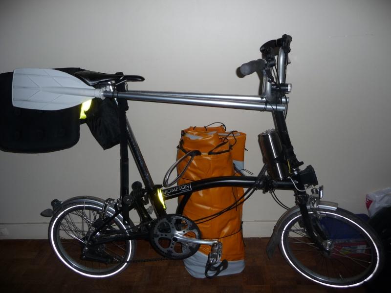 Balades collectives en vélo-kayak : préparatifs du matériel et questions logistiques  [projet de Pouille] P1020935