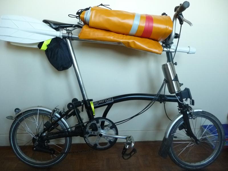 Balades collectives en vélo-kayak : préparatifs du matériel et questions logistiques  [projet de Pouille] P1020937