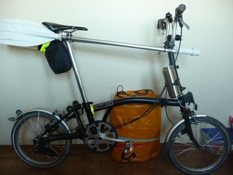 Balades collectives en vélo-kayak : préparatifs du matériel et questions logistiques  [projet de Pouille] P1020938