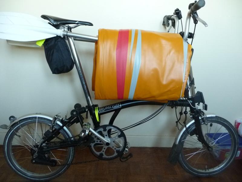 Balades collectives en vélo-kayak : préparatifs du matériel et questions logistiques  [projet de Pouille] P1020939