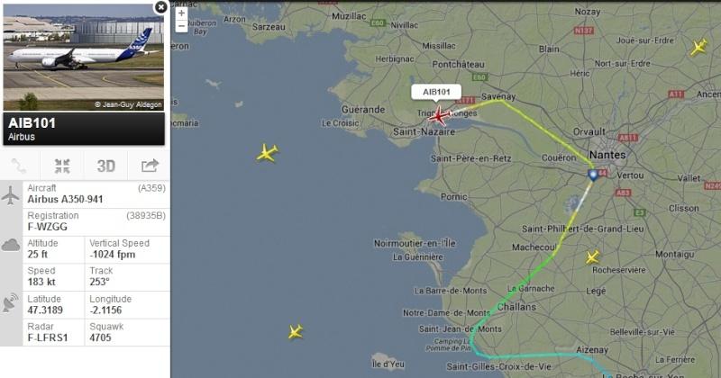 [28/11/2013] Passage de l'Airbus A350XWB Prévu pour Jeudi 28/11 !!!  2013-113