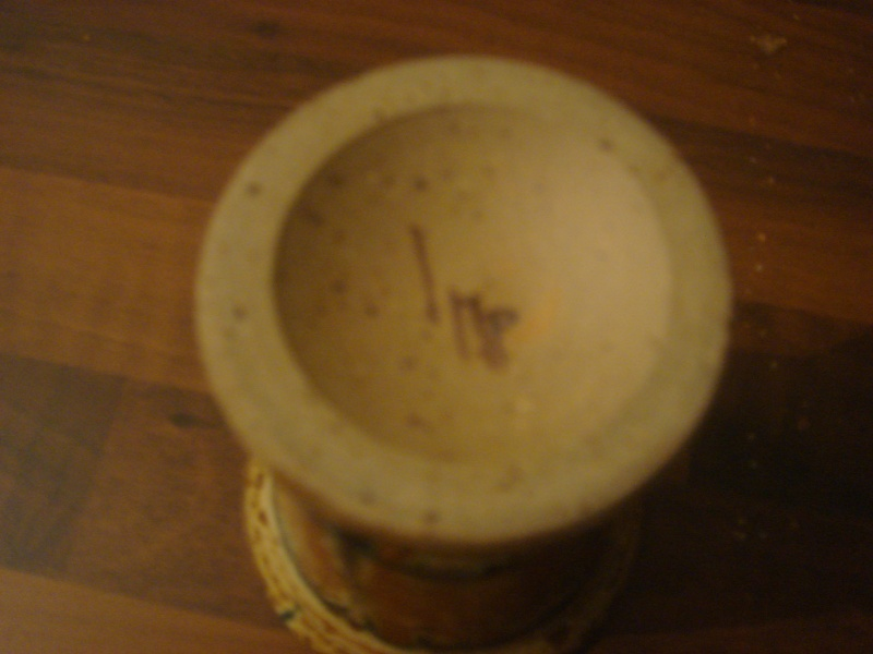 """Small """"Treacle Glazed"""" Goblet...Studio Pottery..signed imp or iwp.. Copied31"""