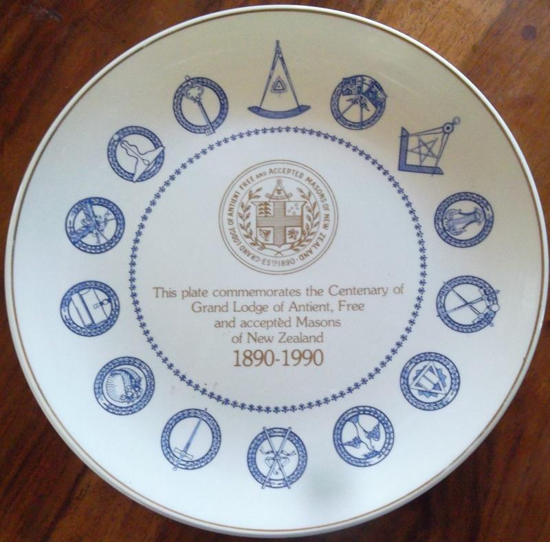 Free Mason Centenary plate 00710