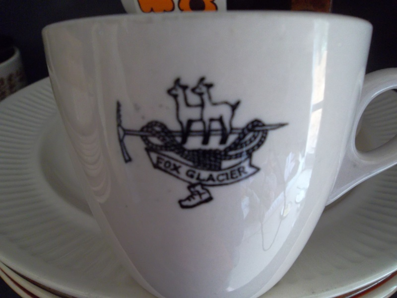 Fox Glacier logo on a cup 00911
