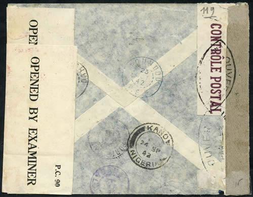 Saint Raphaël à Pointe Noire (Moyen Congo) le 22/04/1941 : problème de tarification  404cb910