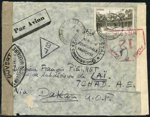 Saint Raphaël à Pointe Noire (Moyen Congo) le 22/04/1941 : problème de tarification  53490a10