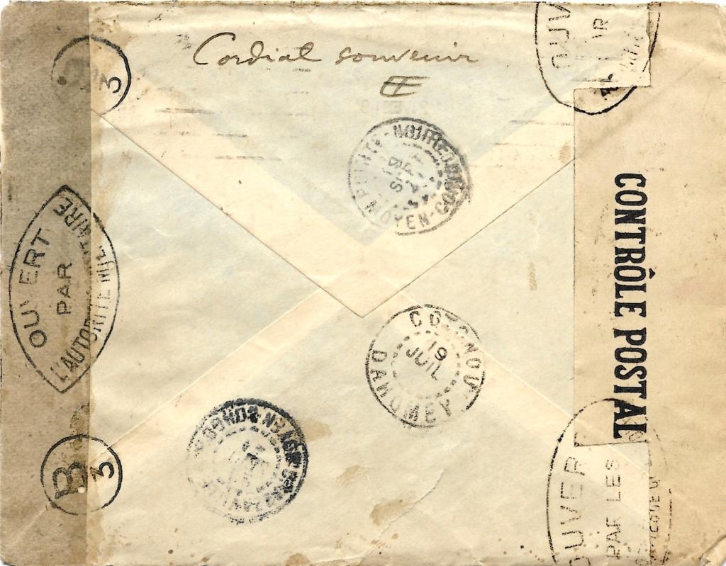 Saint Raphaël à Pointe Noire (Moyen Congo) le 22/04/1941 : problème de tarification  Saint-12