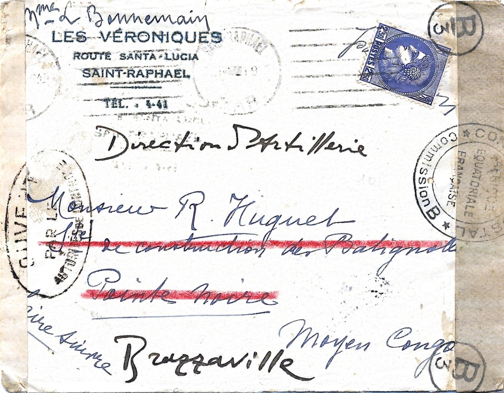Saint Raphaël à Pointe Noire (Moyen Congo) le 22/04/1941 : problème de tarification  Saint-13