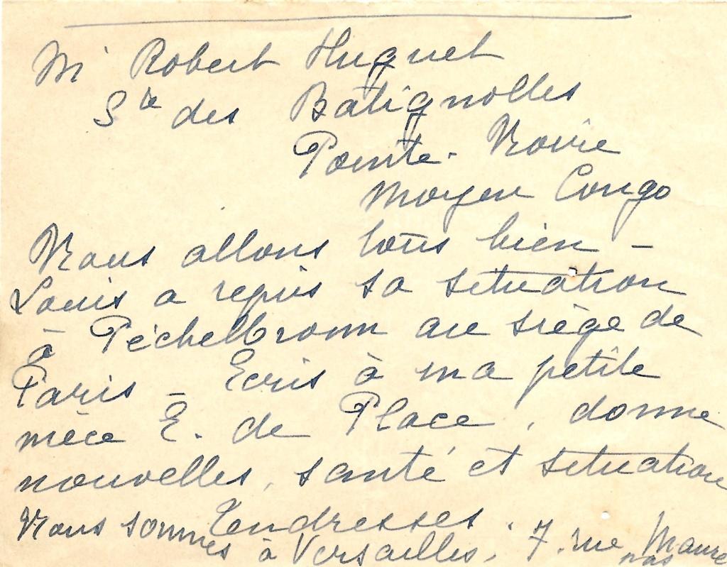 Saint Raphaël à Pointe Noire (Moyen Congo) le 22/04/1941 : problème de tarification  Saint-14