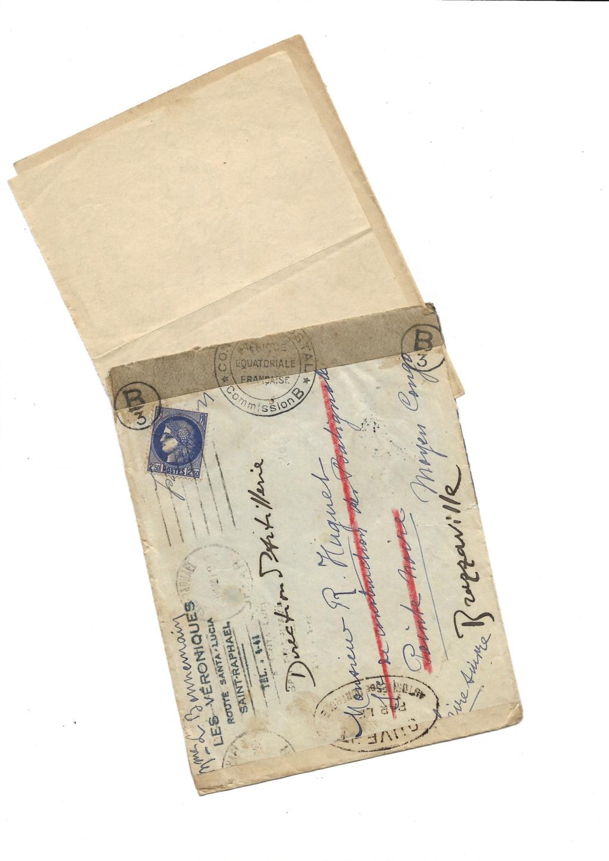 Saint Raphaël à Pointe Noire (Moyen Congo) le 22/04/1941 : problème de tarification  Saint-17