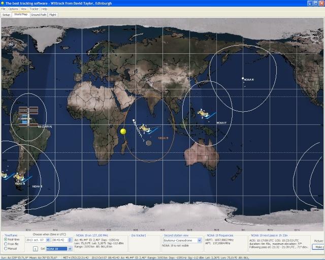 RECEPTION SATELLITES METEOSAT ET NOAA  Wxtrac11