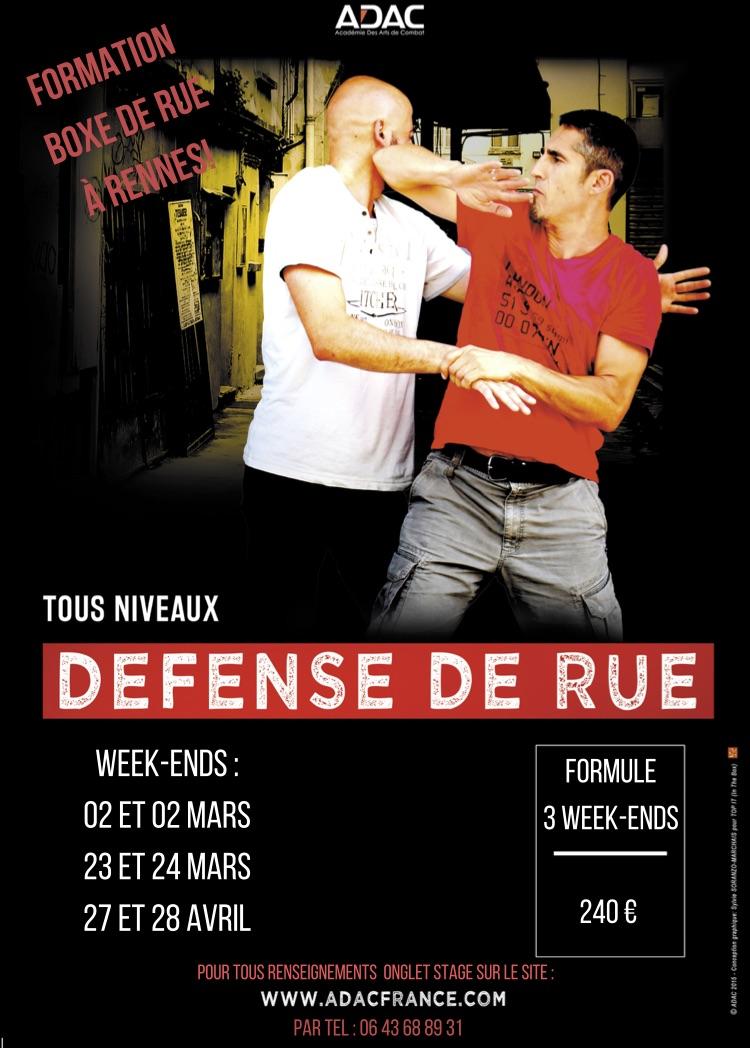 FORMATION BOXE DE RUE A RENNES  Affich10