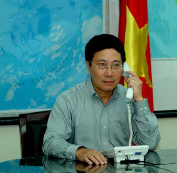 Phó Thủ tướng, Bộ trưởng Ngoại giao Phạm Bình Minh điện đàm với Bộ trưởng Ngoại giao các nước 20-die10