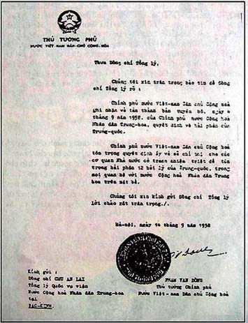 Công hàm 1958 với chủ quyền Hoàng Sa và Trường Sa của Việt Nam 2011_110