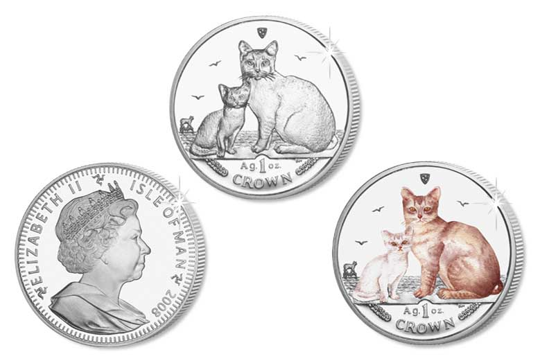 Серия монет, посвященная котам Cat20010