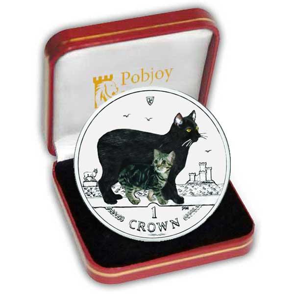 Серия монет, посвященная котам Manxbi10