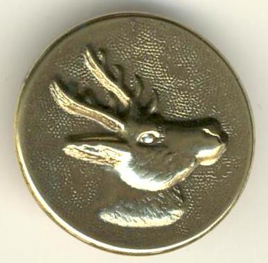 Bouton de veste de chasse motif chevreuil Chevre13