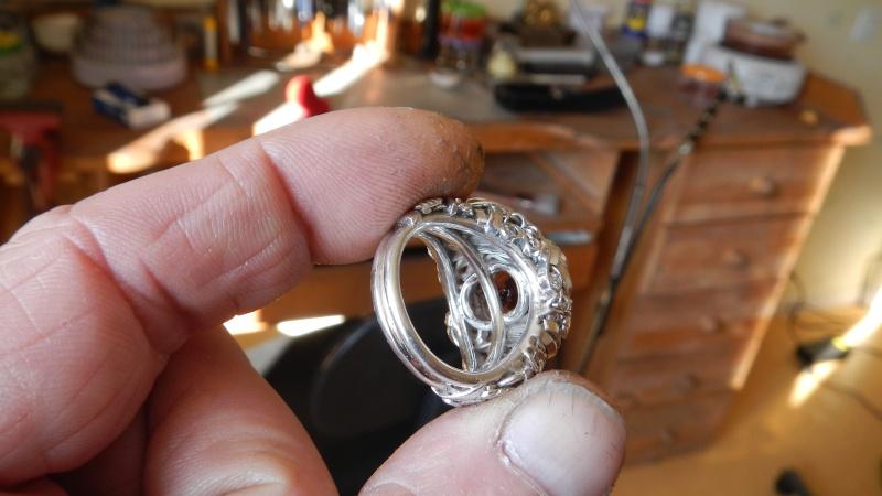 Chevaliere argent 925 citrine imperial 4.9 cts et brillants  poids 17.89 grs Dscn0716
