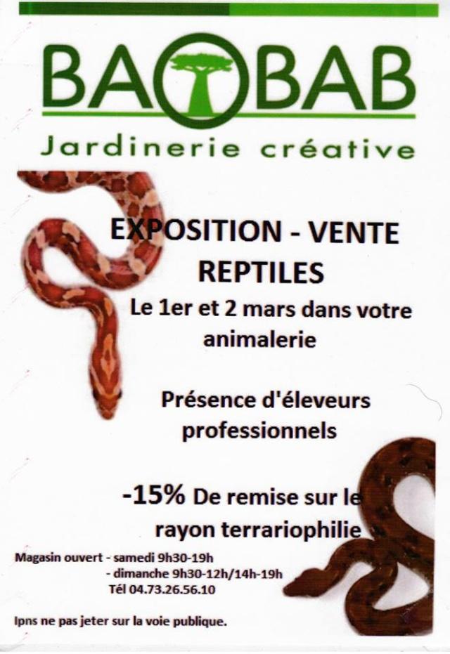 EXPO-VENTE reptiles le 01 et 02 mars 2014 (63) 10022010