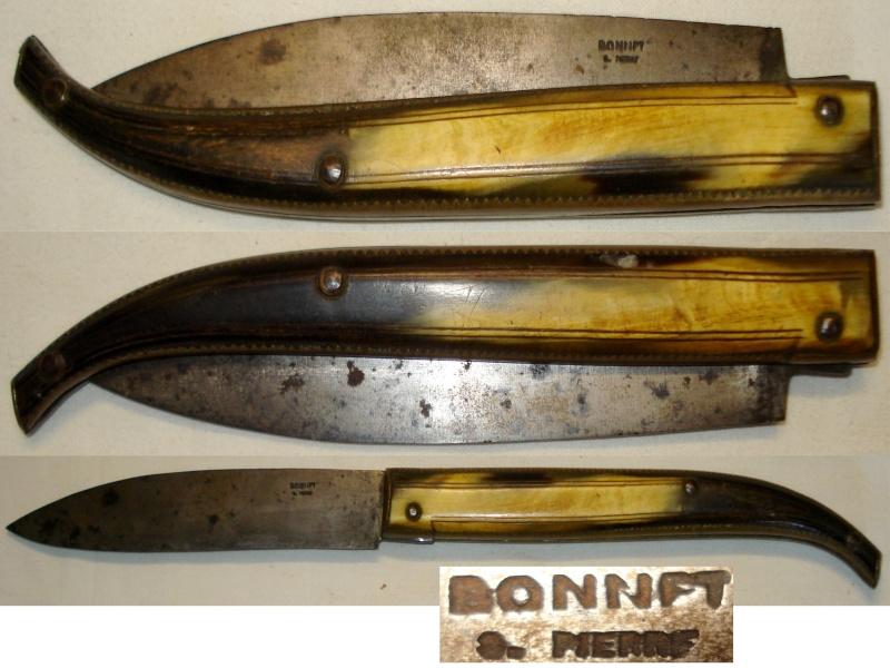 Un Grand couteau BONNET de 1883 superbe Pièce Coutea12