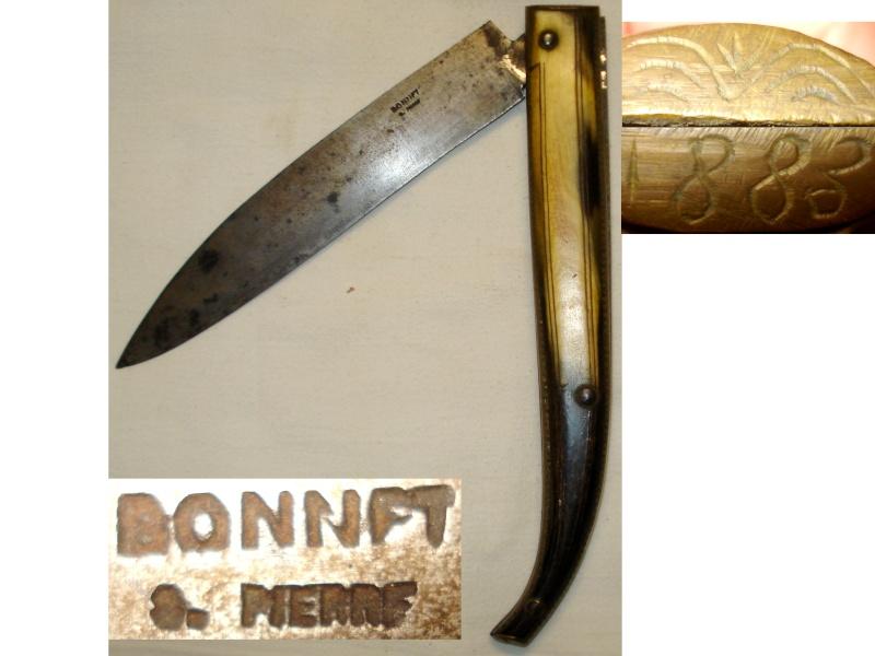 Un Grand couteau BONNET de 1883 superbe Pièce Coutea15
