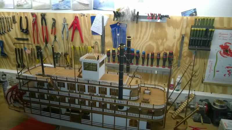 Construction d'un bateau à roue à aube : le Mississippi 1870 Wp_20113