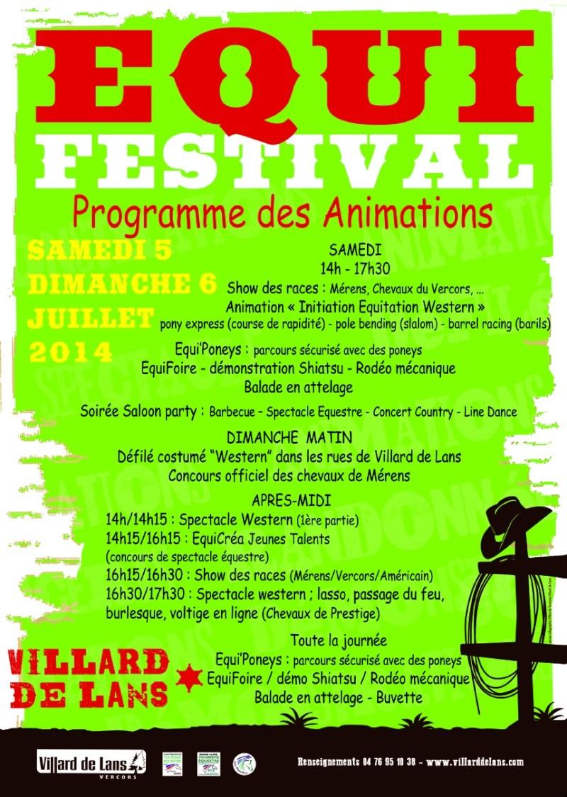 EquiFestival 2014 à Villard de Lans les 5 et 6 juillet Animat10