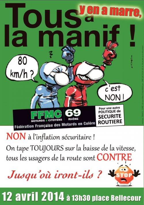Limitation à 80 km/h : manifs FFMC les 12/13 avril 2014 2014-010