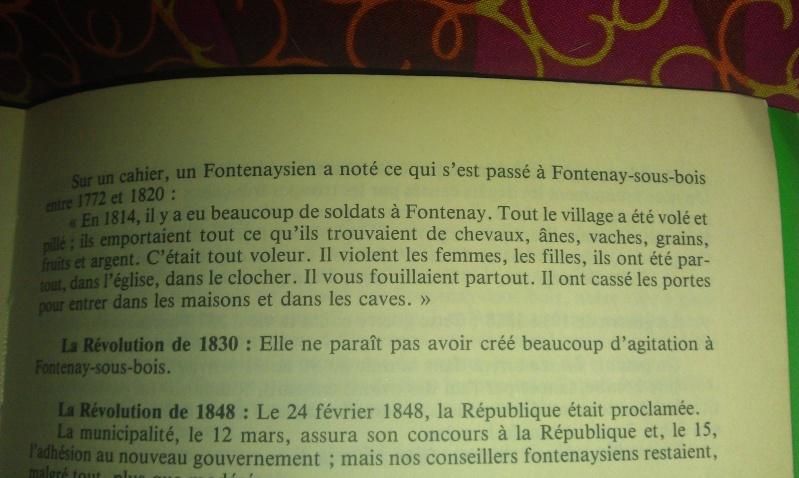 30-31 mars 1814 : Le plan pour l'intelligence échoue à Fontenay sous Bois 1814_110