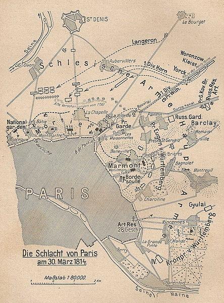 30-31 mars 1814 : Le plan pour l'intelligence échoue à Fontenay sous Bois 1814_610