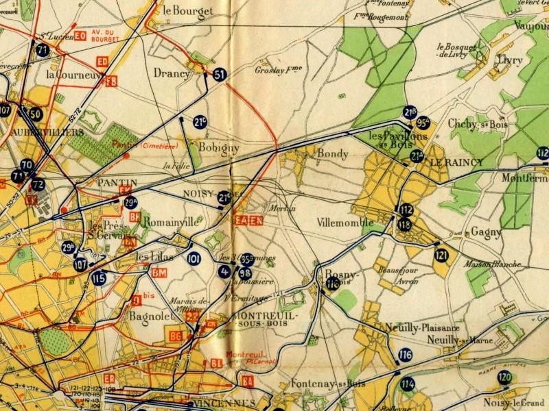 Ligne de la Bastille, ancëtre du RER de Saint-Mandé à Boissy-Saint-Léger Plan_110