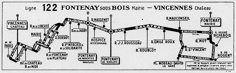 Ligne de la Bastille, ancëtre du RER de Saint-Mandé à Boissy-Saint-Léger Plan_113