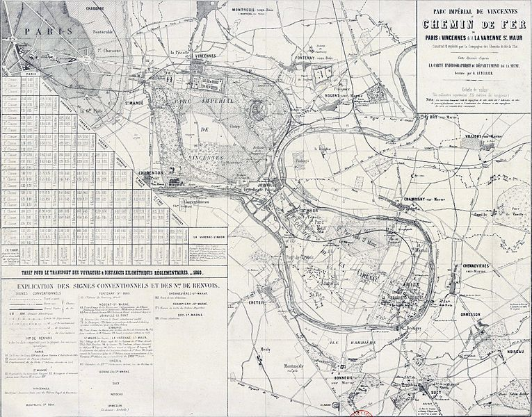 Ligne de la Bastille, ancëtre du RER de Saint-Mandé à Boissy-Saint-Léger T3010