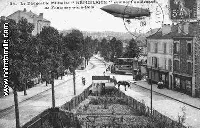 17 avril 1913 : un survol de Fontenay sous Bois tourne à la catastrophe. Z1110