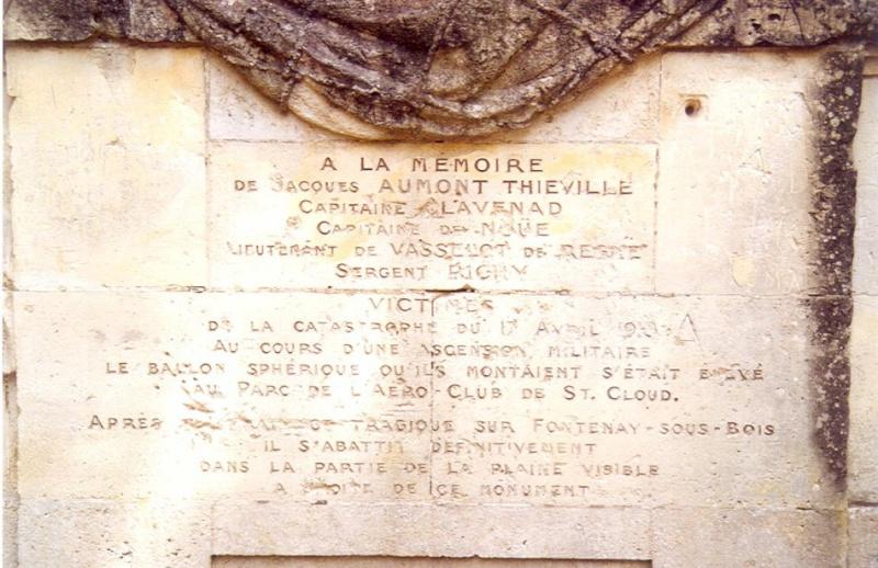 17 avril 1913 : un survol de Fontenay sous Bois tourne à la catastrophe. Z1210