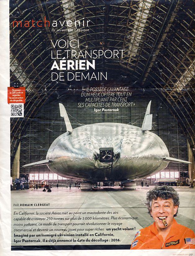 Le transport aérien de demain. Il possède l'avantage de l'hélicoptère avec une capacité de transport multiplié par cent. Aerotr10