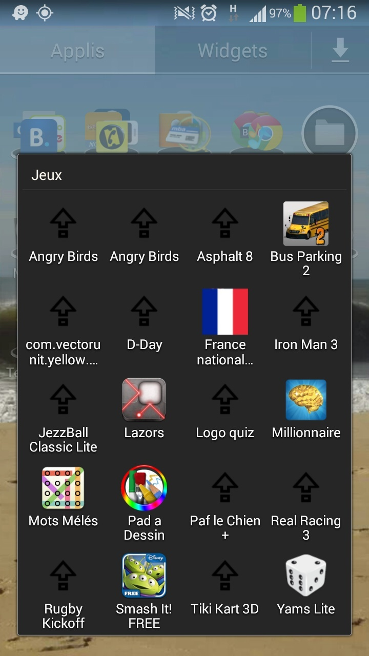 [aide] déplacer applications sous 4.3 Screen10