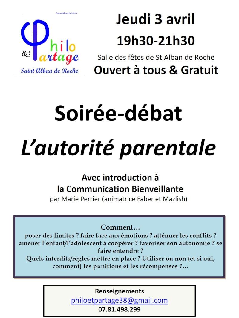 Association Philo et Partage : permanences parentalité Affich16
