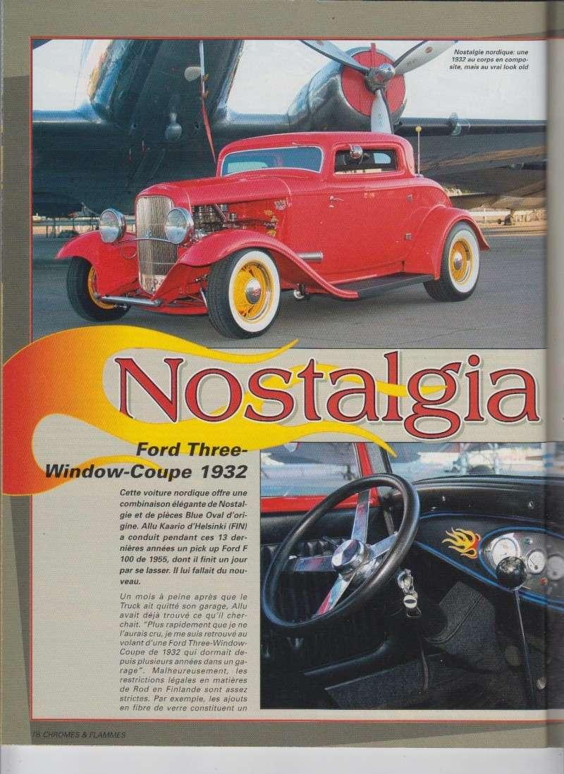 Nostalgia Fin - Ford Three Window Coupe 1932 - Chromes Flammes 10110