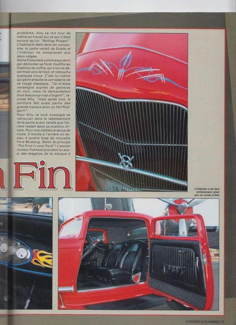 Nostalgia Fin - Ford Three Window Coupe 1932 - Chromes Flammes 10210