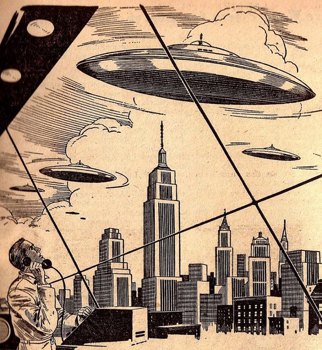 Sciences fiction, soucoupes volantes et extraterrestres - Sci Fi, Flying Saucers and Aliens 10354610