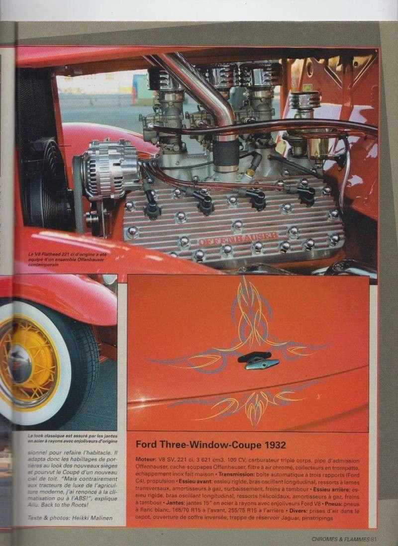 Nostalgia Fin - Ford Three Window Coupe 1932 - Chromes Flammes 10410