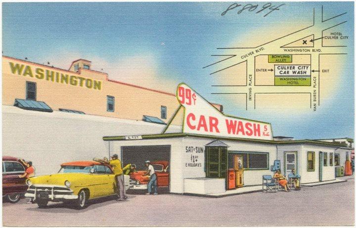 Car Wash 1950s - 1960s - Centre de lavage auto 10447910